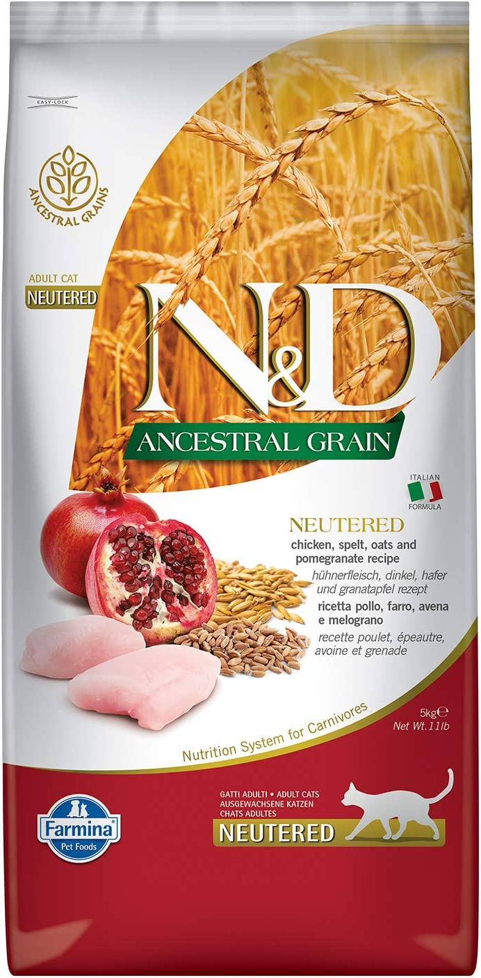 Farmina - Farmina N&D Pollo y Granada Adult Neutered Cat Low Grain - 1082-5 Kg.