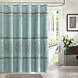 "Madison Park MP70-1067 Brussel Shower Curtain 72x72"" Blue,72x72"""