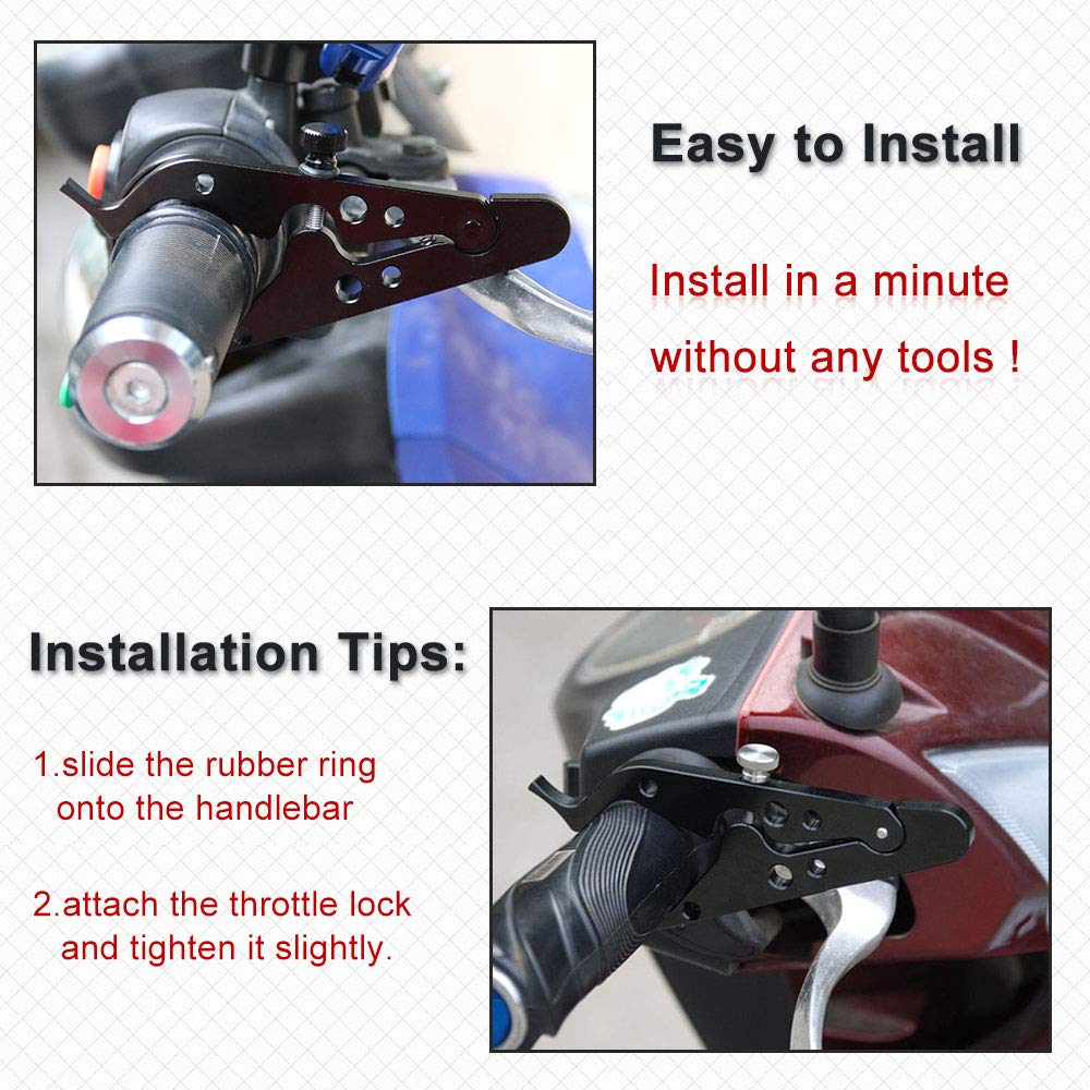 Sporacingrts Motorcycle Cruise Control Throttle Clamp Universal Wrist//Hand Grip Lock Clamp for Throttle Assist