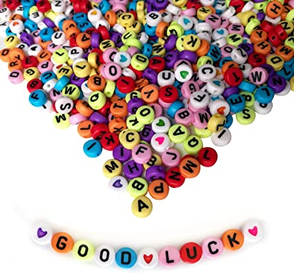 round 7mm You choose specific letters and colours 10 x Alphabet Letter beads