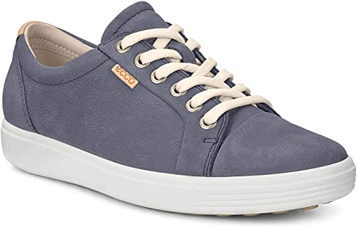 Ecco Leather Soft 1 Ladies Low top Sneakers in Ombre (Blue