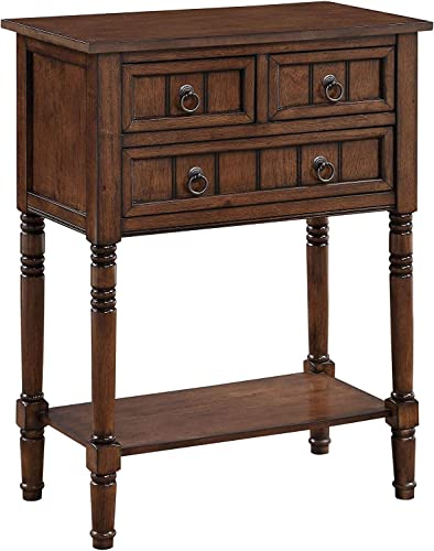 Convenience Concepts Kendra Hall Table, Dark Oak