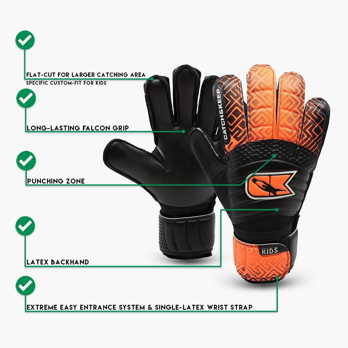CATCH /& KEEP/® Kralle Junior Pro Premium Torh/üterhandschuhe f/ür Kinder Kinder Torwarthandschuhe Tormannhandschuhe mit extra starkem Grip