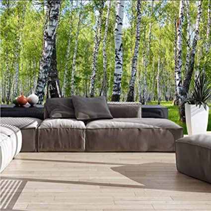 Forest Trees Wall Mural Photo Wallpaper Picture Self Adhesive Living Room Bed