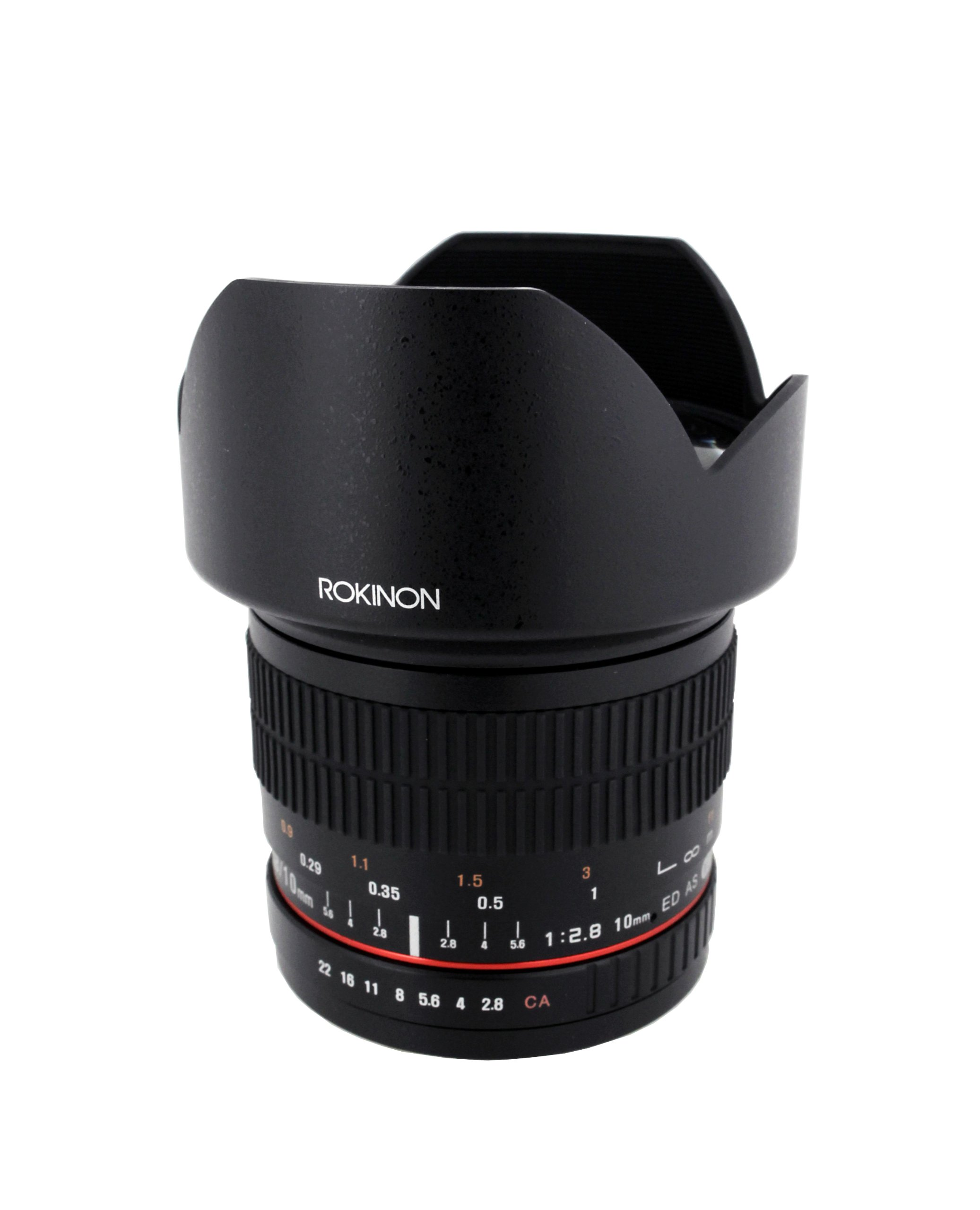 Rokinon 10mm F2.8 ED AS NCS CS Ultra Wide Angle Lens Canon EF-S Type for Canon Digital SLR Cameras  (10M-C) by Rokinon
