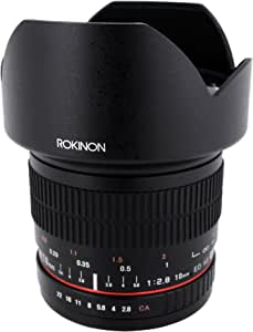 Rokinon 10mm F2.8 ED AS NCS CS Ultra Wide Angle Lens Canon EF-S Type for Canon Digital SLR Cameras (10M-C)