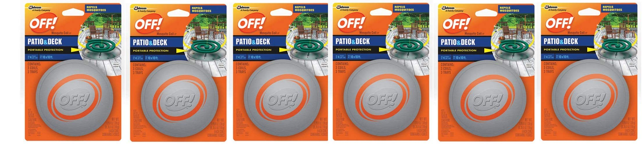 SC Johnson OFF! Patio And Deck Coil Tin (Pack - 6)