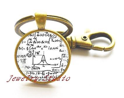 Encantador moda llavero matemáticas fórmulas matemáticas ...