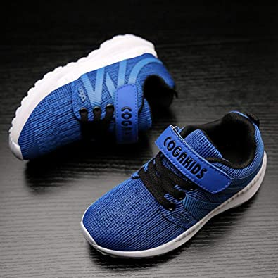 PRETTYHOMEL Boys Girls Lightweight Breathable Strap Sneakers Cute Casual Running Shoes