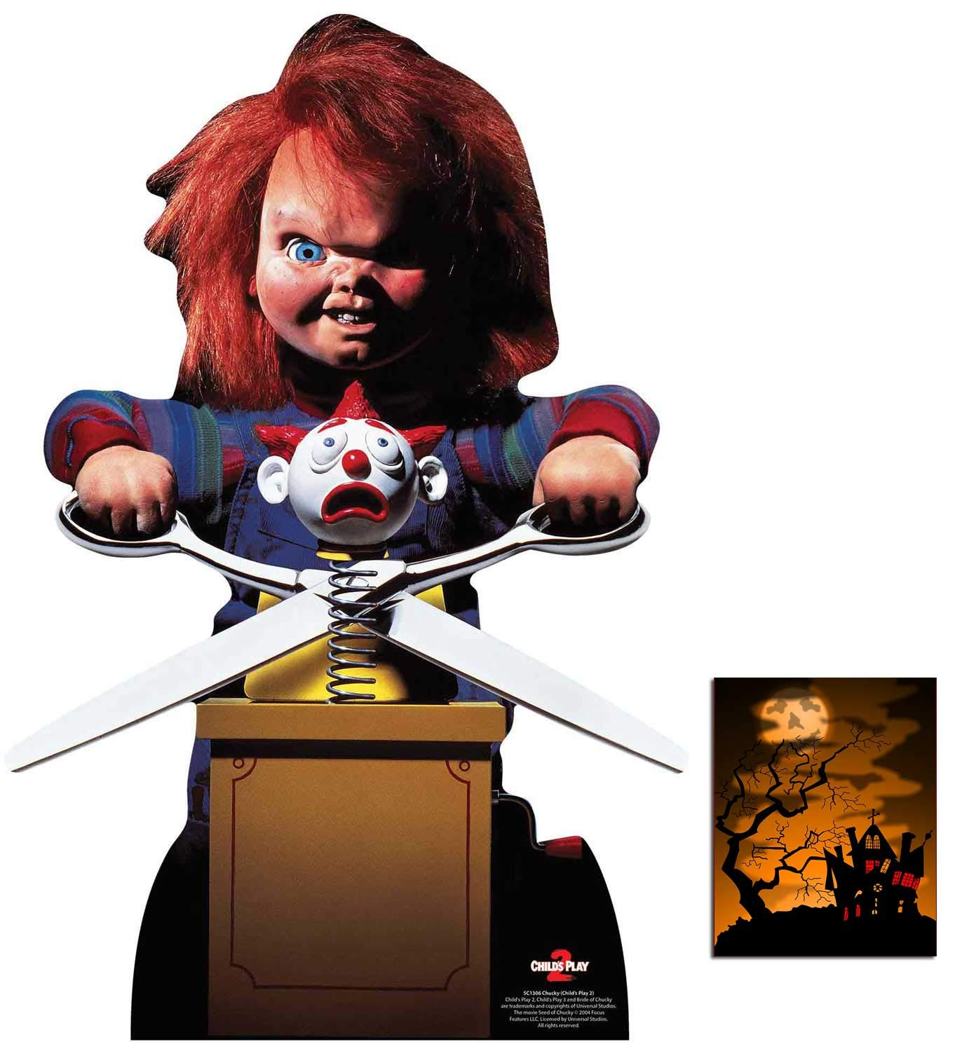 BundleZ-4-FanZ by Starstills Fan Pack Chucky with Jack in the Box from Childs Play Official Lifesize Cardboard Cutout Stand In with 20cm x 25cm Star Photo
