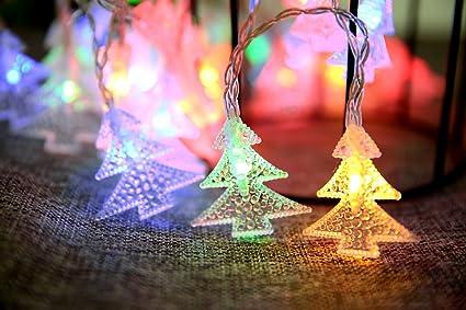 mini skater xmas battery operated flash string light 4m13ft 40led christmas tree shape colorful