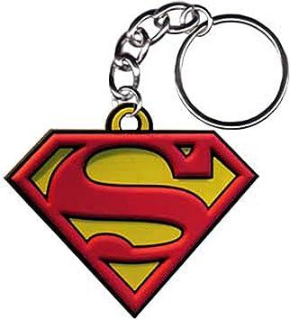 SUPERMAN Logo Rubber KEYCHAIN, LLAVERO Officially ...