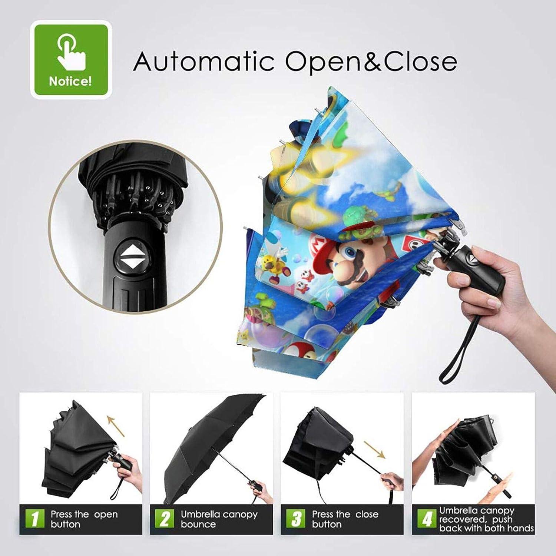 Super Mario paraguas de viaje plegable paraguas port/átil a prueba de viento paraguas auto paraguas paraguas paraguas