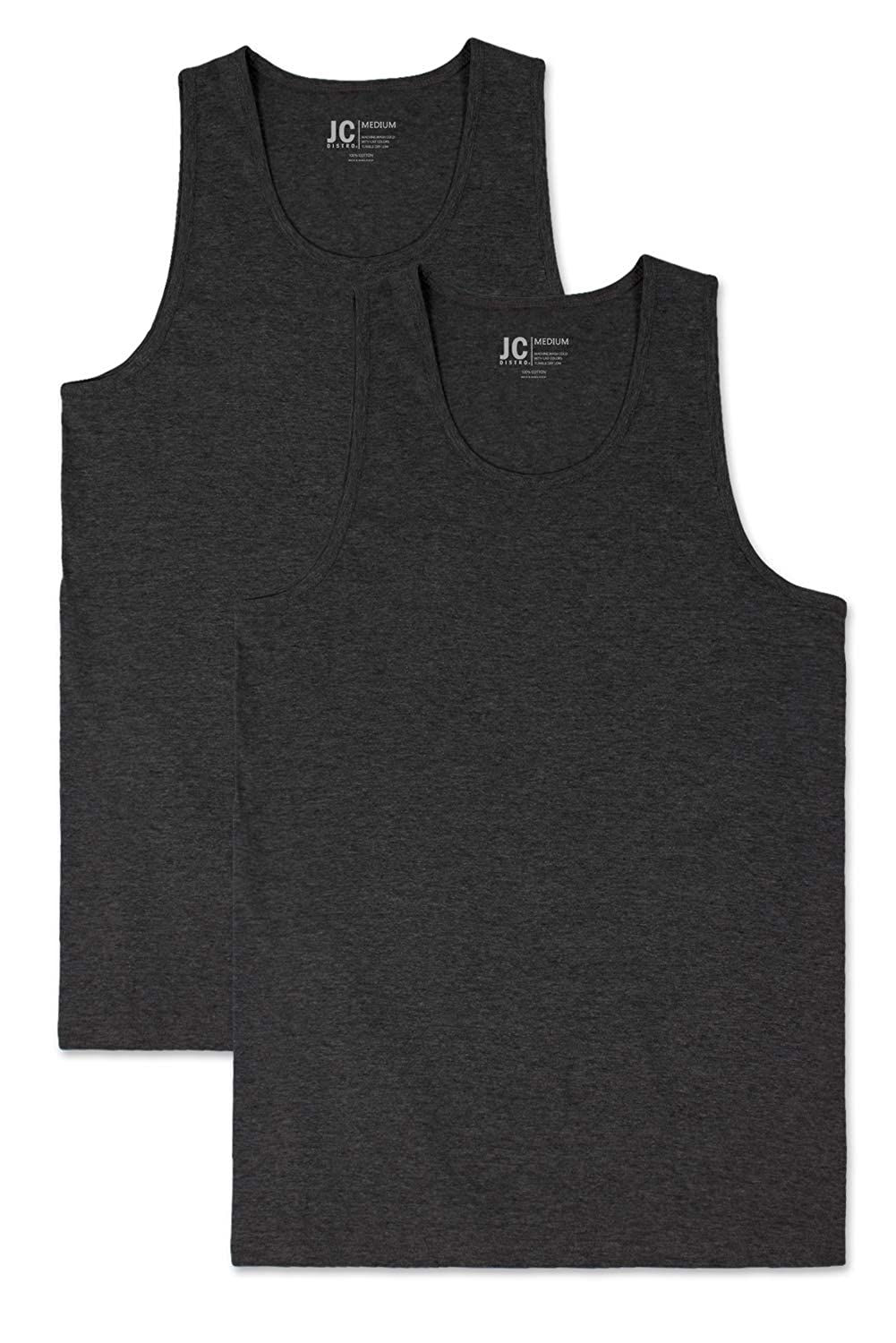 Size Upto 3XL JC DISTRO Mens Basic Solid Tank Top Jersey Casual Shirts