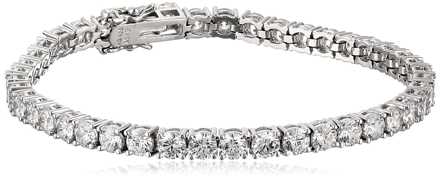 zirconia set with sterling cttw dp amazon tennis swarovski silver cut plated platinum com jewelry princess gold bracelet