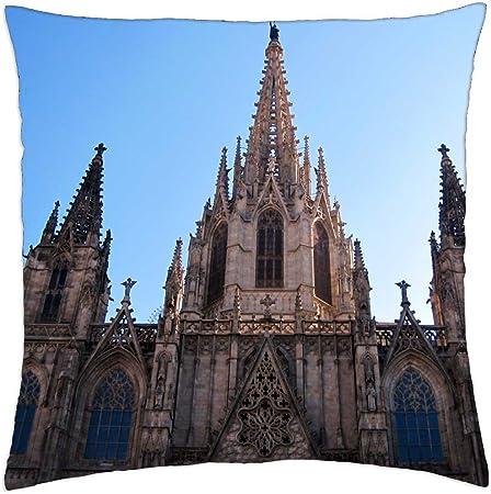 La Catedral de Barcelona España - Funda de cojín (18: Amazon.es: Hogar