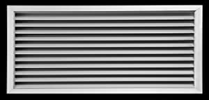 "24""w X 12""h Aluminum Privacy Door HVAC Air Grille -""V"" Shaped Louvers Ensure 100% View Block - Supply or Return [Outer Dimensions: 25""w X 13""h]"