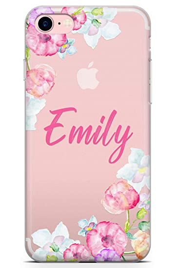 amazon com case warehouse iphone 7 case, iphone 8 casecase warehouse iphone 7 case, iphone 8 case, personalised pink floral custom name case