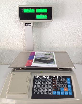 Balanza Ticket Bascula MONAR.K P-4 4 Vendedores Peso hasta 30kg Funcion Registradora