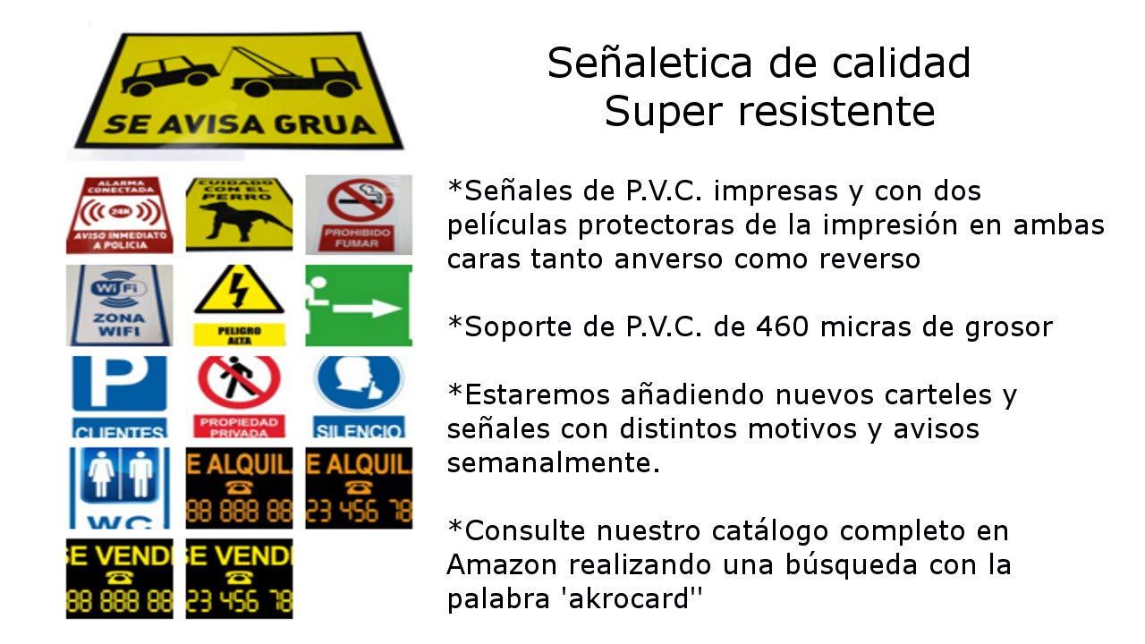 akrocard Cartel Resistente PVC - PROHIBIDO JUGAR A LA PELOTA - Señaletica de Aviso - Ideal para Colgar y Advertir al transeúnte