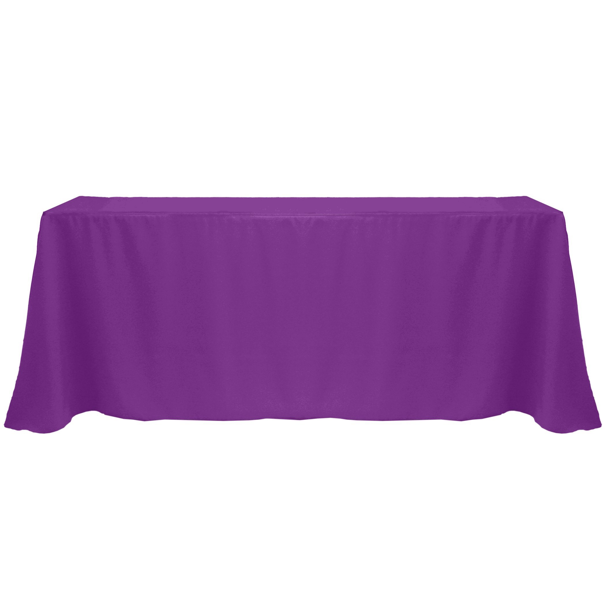 Ultimate Textile (12 Pack) 108 x 156-Inch Rectangular Polyester Linen Tablecloth with Rounded Corners - for Wedding, Restaurant or Banquet use, Plum