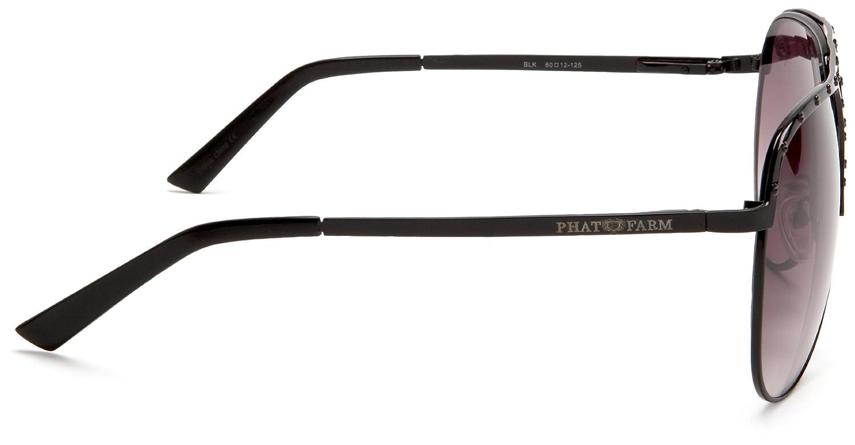 Amazon.com: Phat Farm Men\'s 5019 Metal Sunglasses,Black Frame/Black ...