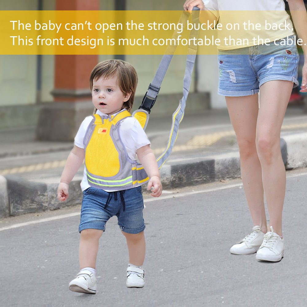 Jolik Child Motorcycle Safety Harness with 4-in-1 Buckle, Breathable Material in Yellow by Jolik (Image #3)