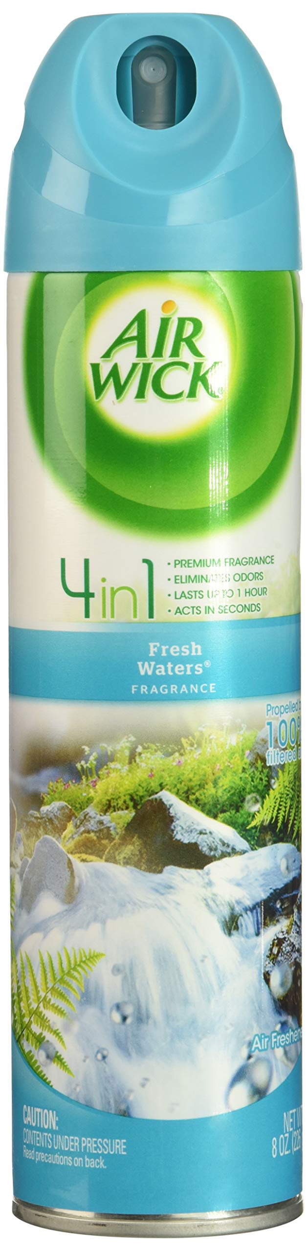 Air Wick Aerosol Spray Air Freshener, Fresh Waters, 8 oz (Pack of 24)