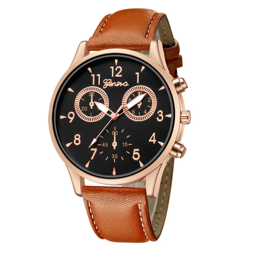 Zaidern Men Watches,Men's Watch Luxury Military Casual Analog Quartz Wristwatches Classical Retro Simple Design Business Dress Waterproof Leather Band Round Dial Wrist Watches Clock