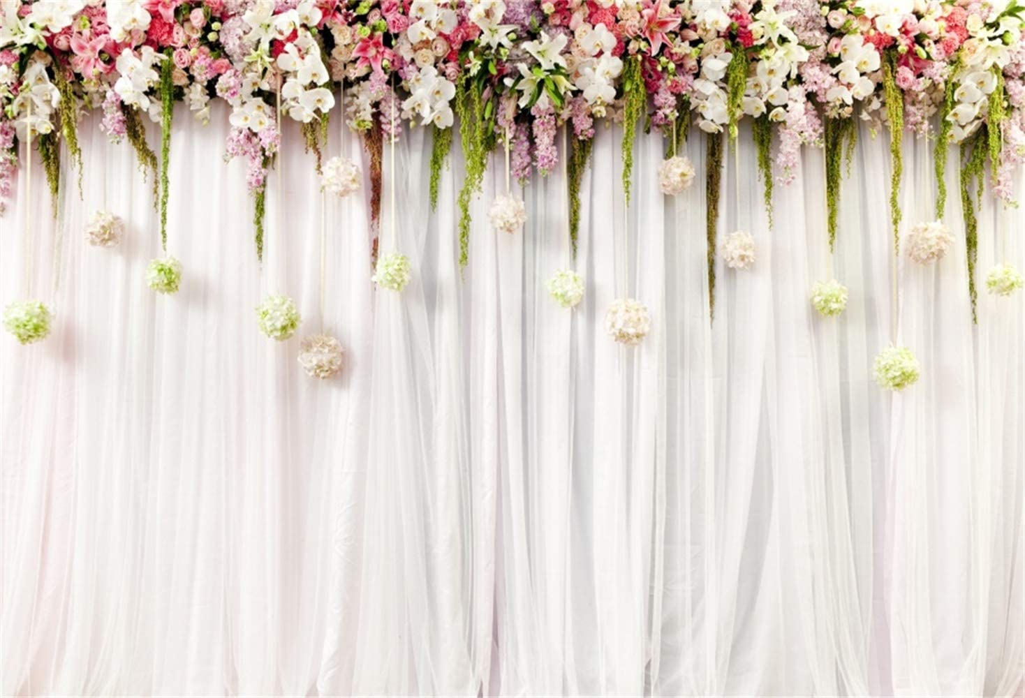 7x10 FT Love Vinyl Photography Backdrop,Romantic Floral Background with Letters of The Word Love with Ornamental Design Background for Party Home Decor Outdoorsy Theme Shoot Props