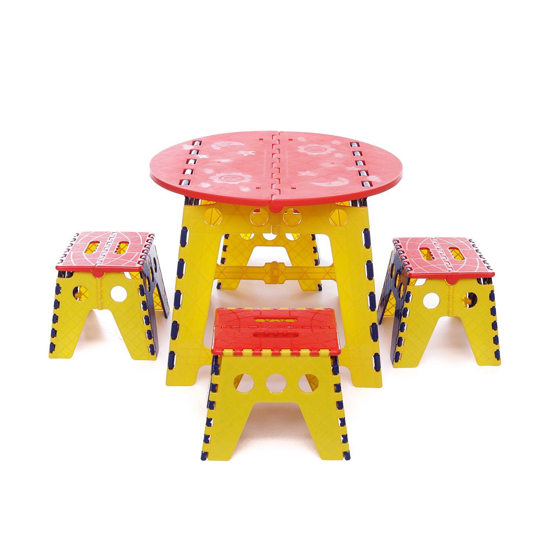 in abs Tavolino e sgabelli set per bambini