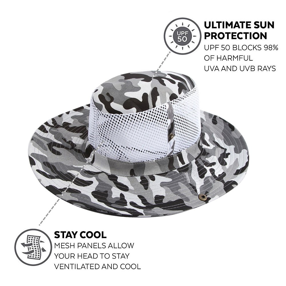 f47615caff7 Ezyoutdoor Outdoor Collapsible Quick-dry Fishing Hat With Neck Flap Hunting Boonie  Cap Cowboy Bucket