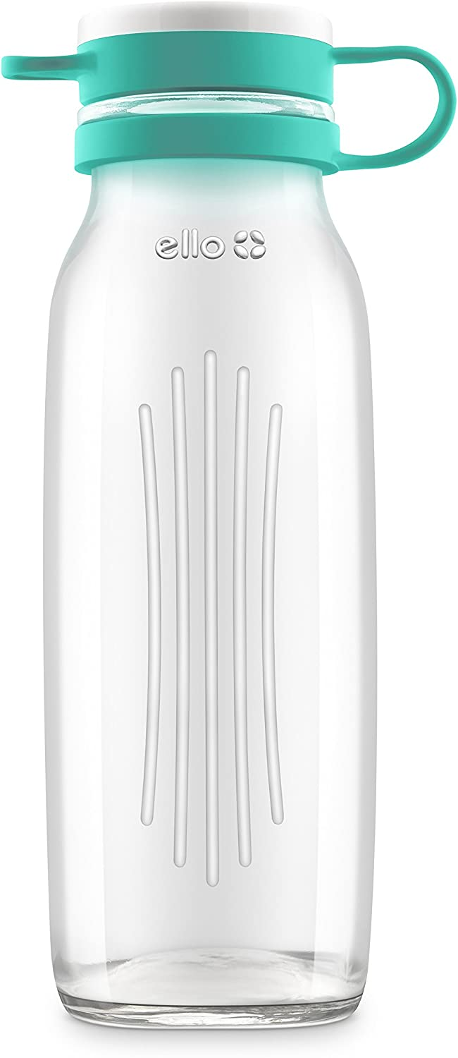 Ello Elsie Glass Water Bottle with Silicone Stopper