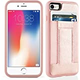iPhone 8 Case, iPhone 7 Case,iPhone 7 /8 Wallet Case with Credit Card Slots& ID Card-Durable slim Shockproof Cover for iPhone 7/8-Rosegold