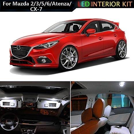 muchkey® LED luz interior para Mazda2 Mazda3 Mazda5 Mazda6 Atenza CX7 CX-7 coche