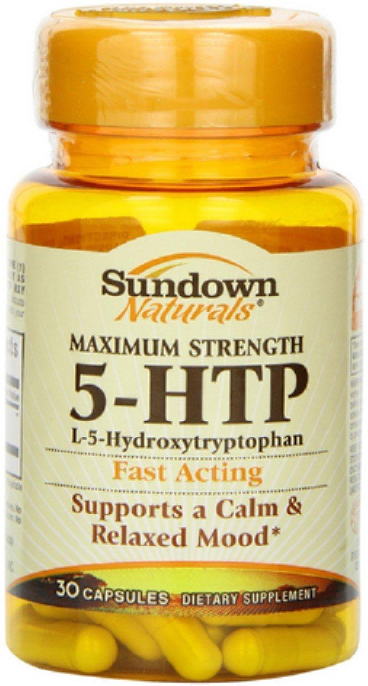 Sundown Naturals 5-HTP Capsules Maximum Strength 30 Capsules (Pack of 10)