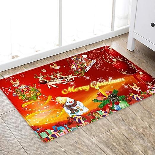 Christmas Door Mat Kitchen Floor rug Bedroom Living Room Carpet Non Slip Runner