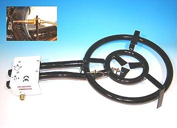 gasbrenner 60cm, 3-ring-brenner 25 kw, mit zündsicherung, für ... - Gasbrenner Für Küche