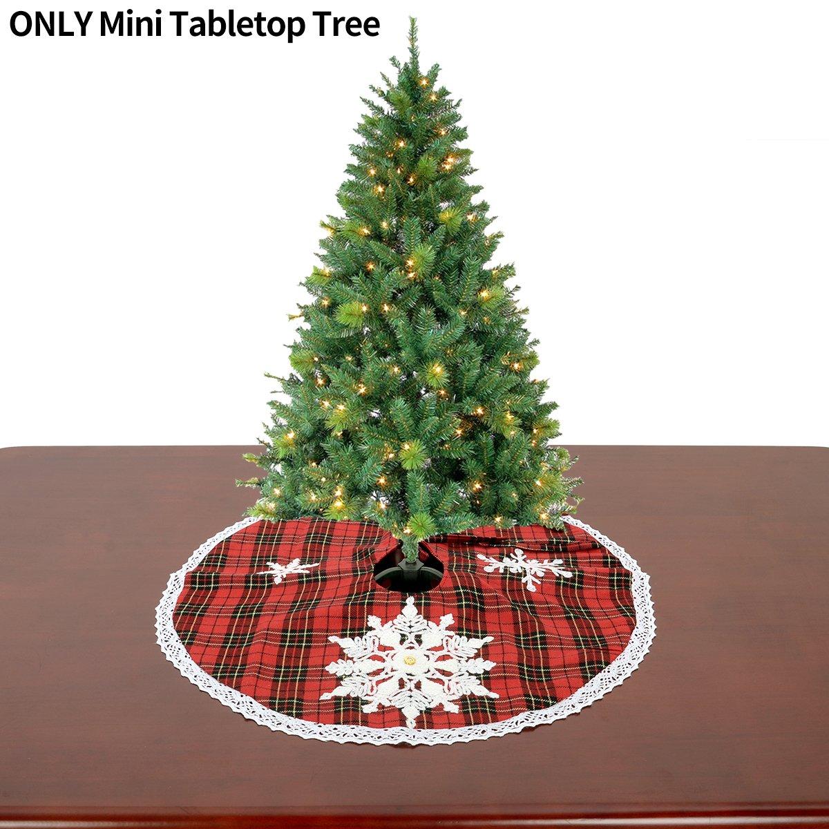 Amazon.com: Grelucgo Mini Christmas Tree Skirt For Small Tabletop ...