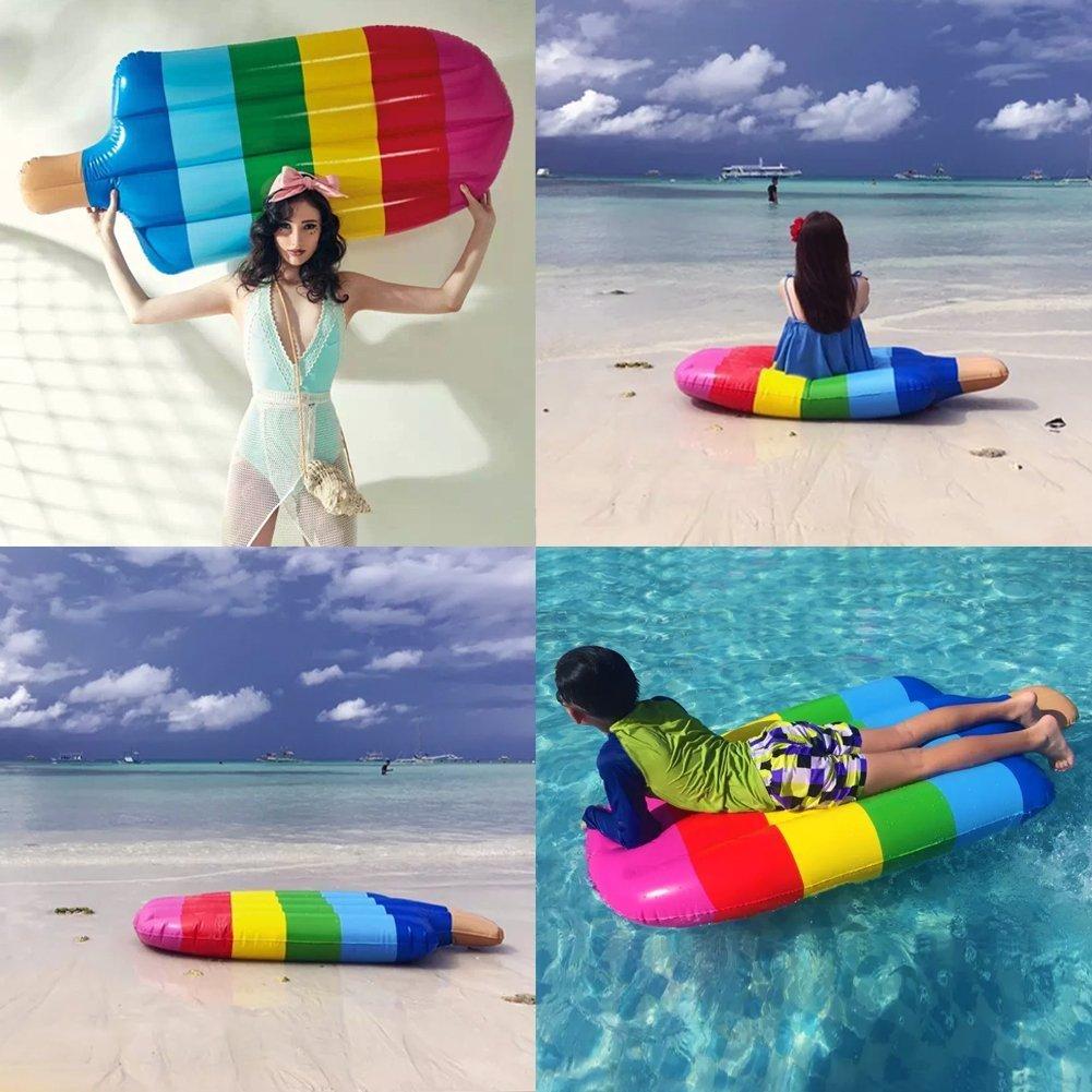 LHTC paleta flotador, flotadores de piscina, piscina inflable paleta flotante flotadores de Balsa, verano piscina al aire libre, Transparente salón juguete ...