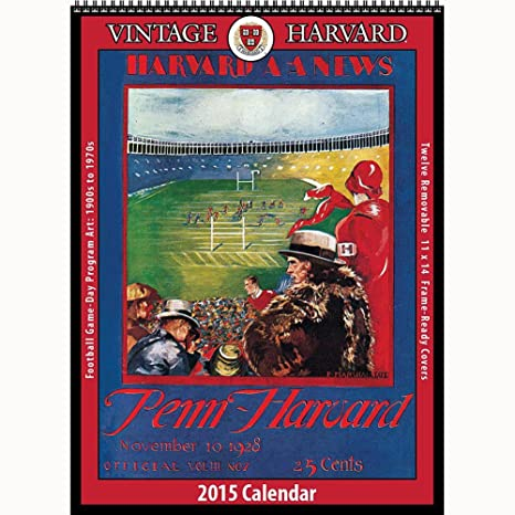 Harvard Calendar.Amazon Com Vintage Harvard Crimson Football Poster Calendar By