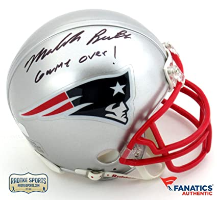 114249be838 Amazon.com  Malcolm Butler Autographed Signed New England Patriots Riddell  NFL Mini Helmet with