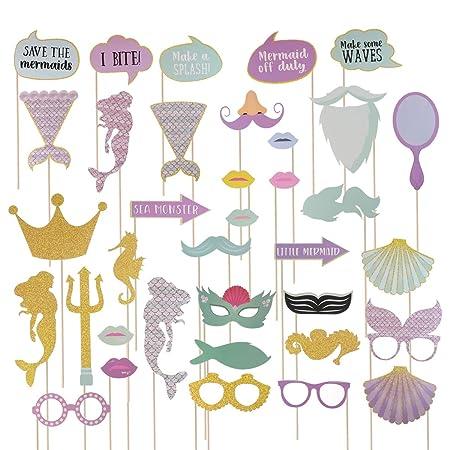 Amosfun Corona de Gafas de Decoración de Fiesta de Sirena ...