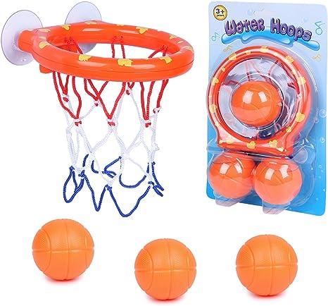 SIMUER Canasta Baloncesto Infantil Bañera,Juguetes de Baño,Ganasta ...