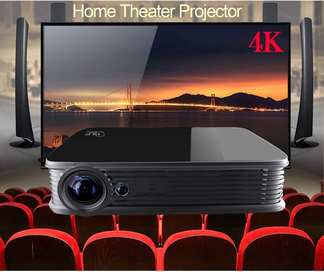 Proyector 4K, Deeiró Android5.1 DLP Home Theater Proyector Mini ...