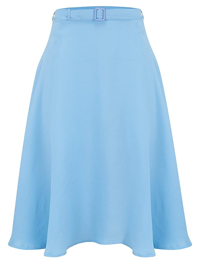 Retro Skirts: Vintage, Pencil, Circle, & Plus Sizes 1940s Authentic Vintage Inspired Circle Skirt in Powder Blue by The Seamstress of Bloomsbury £49.00 AT vintagedancer.com