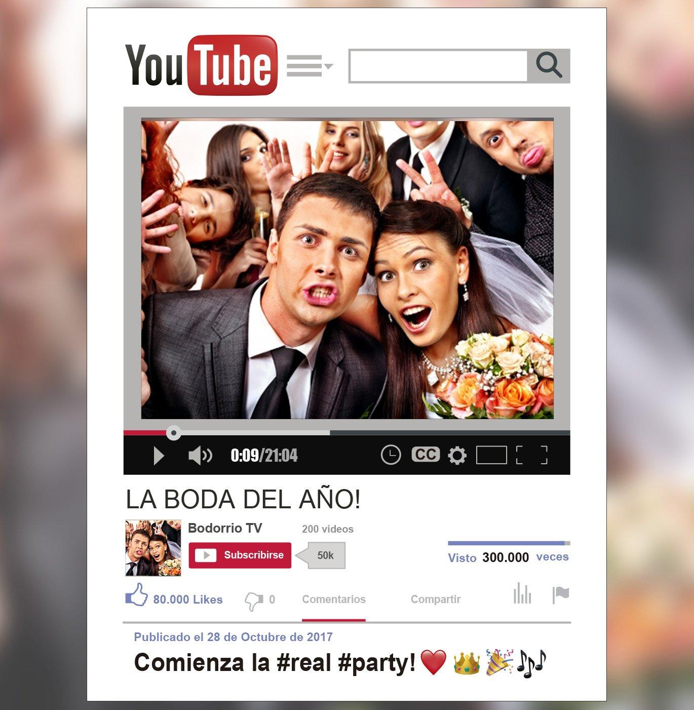 MundoPrint Marco Photocall Youtube Personalizado 90x120cm. Cartón 4mm.