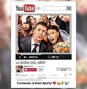 Cadre Photocall Youtube Personnalisé 70 X 100 Cm Cadeau