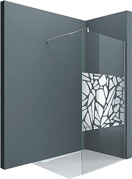 Sogood Lujosa Mampara/Panel de ducha de vidrio transparente, diseño Bremen02BL 100x200 | Barra estabilizadora cuadrada para vidrio de 10 mm | Cristal de seguridad templado de fácil limpieza: Amazon.es: Bricolaje y herramientas