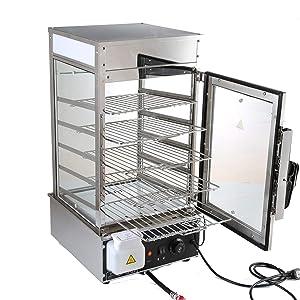 Food Warmer Electric Steamed Bun Warmer Commercial Bun Steamer Machine 5 layers 110v